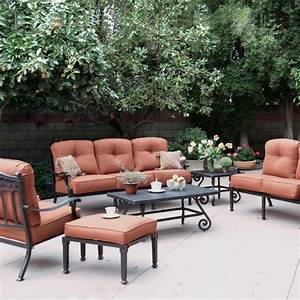 Darlee Charleston Cast Aluminum Deep Seating Patio ...