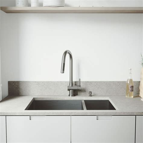 All In One Kitchen Sink by Vigo Stainless Steel All In One Undermount Bowl