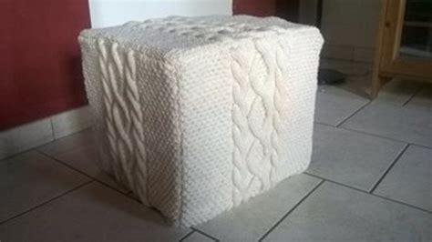 housse pour pouf de s 233 verine crovi cr 233 ations de tricot