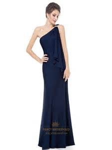 navy bridesmaid dresses navy blue one shoulder bridesmaid dress gorgeous navy blue one shoulder diamantes evening