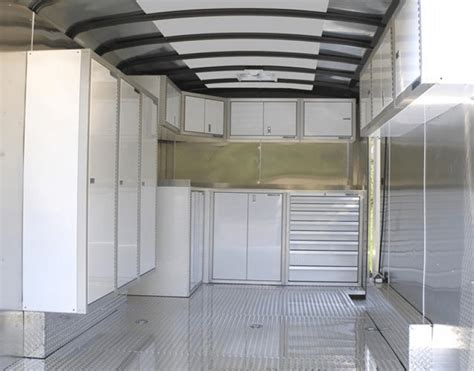 Enclosed Trailer Cabinets by Trailer Storage Cabinets That Last And Are Lightweight