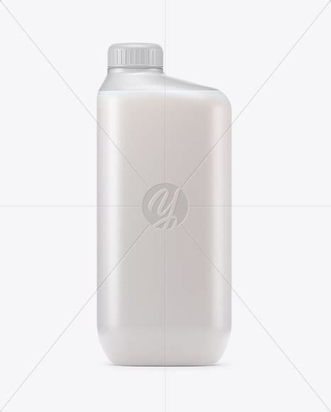 Two white plastic gallon jug isolated on white background. Frosted Plastic Milk Bottle Mockup in Bottle Mockups on ...