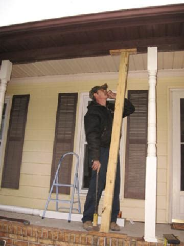 Replacing Porch Columns by Replacing Porch Columns And Installing Porch Railings