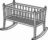 Crib Baby Clipart sketch template