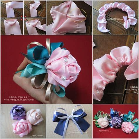 diy ribbon rose decoration