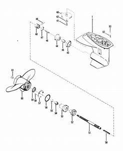 Mariner 25 Hp  2 Cylinder  Gear Housing  Propeller Shaft