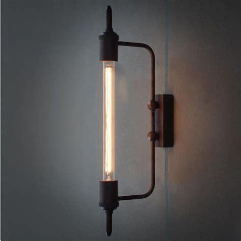 antique pencil bulb wall light lighting industrial