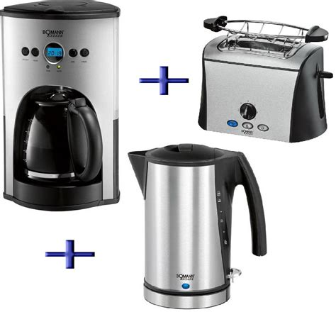 kaffeemaschine toaster wasserkocher bomann 3in1 kaffeemaschine toaster wasserkocher estate