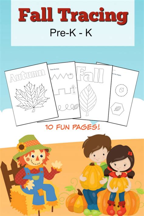 fall tracing pack for pre k and k homeschooling