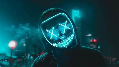 Mask Led Wallpapers Purge 4k Cave