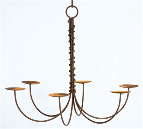 wrought iron federal candle chandelier outdoor patio