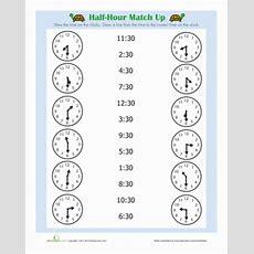 Half Hour  Worksheet Educationcom