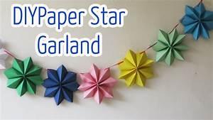 Diy crafts : Paper stars garland - Ana DIY Crafts - YouTube