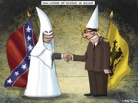 kkk  belgium  vanmol politics cartoon toonpool