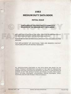 1983 Chevrolet And Gmc Medium Duty C60 C70 Diesel Wiring Diagram Original C6000 C7000