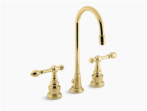 Kohler Bathroom Sink Faucet Leaking by Iv Georges Brass Widespread Sink Faucet K 6813 4 Kohler