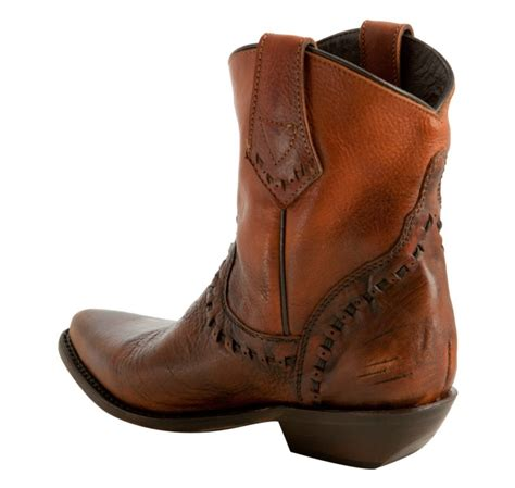 Ash Honey by Ash Honey Distressed Leather Cowboy Boots In