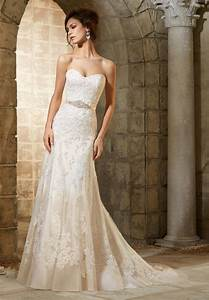 elegant sheath lace long wedding dresses white ivory 2015 With td wedding dresses