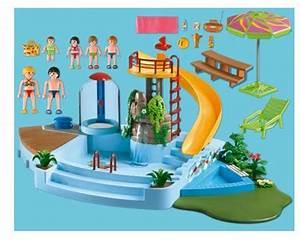Jeu De Piscine : jeu de construction playmobil piscine avec toboggan ~ Melissatoandfro.com Idées de Décoration