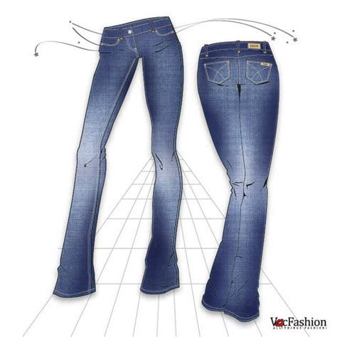 draw womens denim jeans  steps