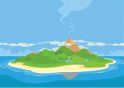 Island Clipart Vector Clip Volcanic Illustrations Landscape
