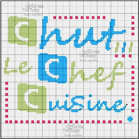 point de croix cuisine cuisine kitchen chef point de croix cross stitch