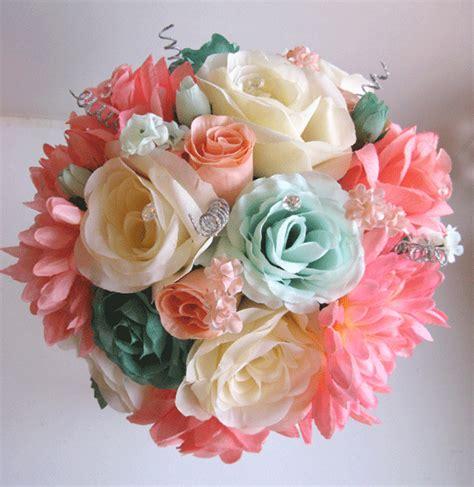 teal  coral wedding flowers anniversarywedding ideas