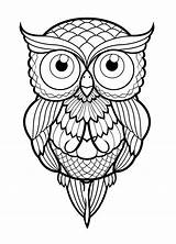 Owl Coloring Pages Simple Drawing Painting Mandalas Easy Cute Drawings Owls Colouring Patterns Wood Burning Pattern Barbara Pro Tumblr Books sketch template