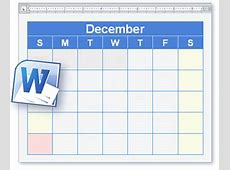 Calendar Template Blank & Printable Calendar in Word Format