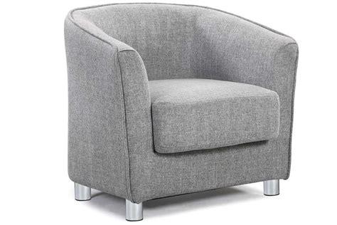Grey Vegas Fabric Upholstered Modern 1 Seater Designer Tub