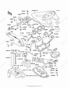 Kawasaki Jet Ski 1998 Oem Parts Diagram For Meters  Jh1100