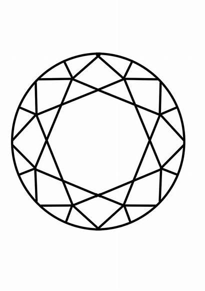 Diamond Coloring Drawing Shape Geometric Diamant Diamonds