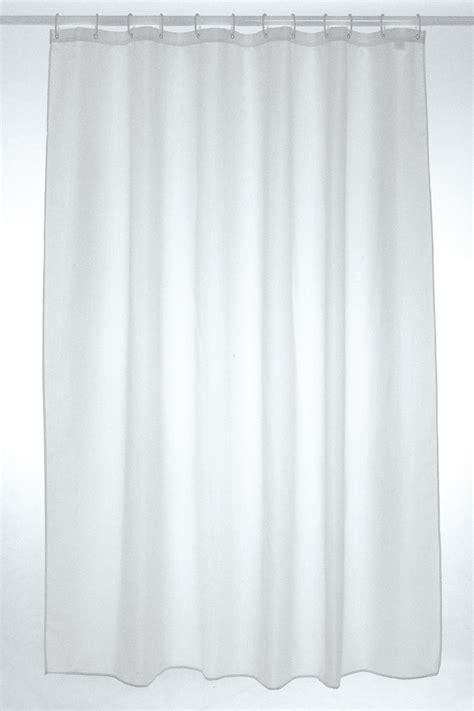 Plain White Shower Curtain - plain polyester shower curtain 180 x 210cm white