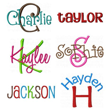 instant download embroidery font pack 6 embroidery