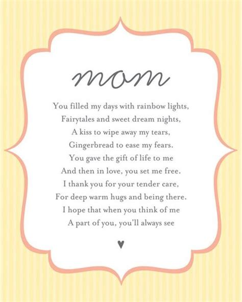 mothers day poems for preschoolers mothers day poems for from child in 304