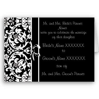 black and white wedding invitations wedding themes wedding style black and white wedding invitations a unique and choice