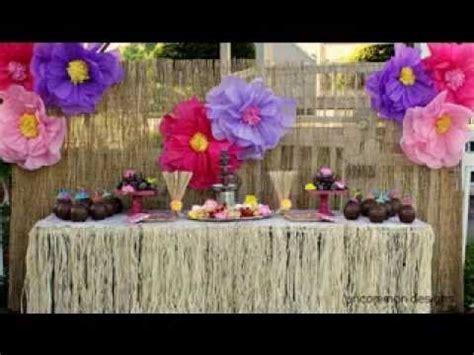 hawaiian party decorations youtube