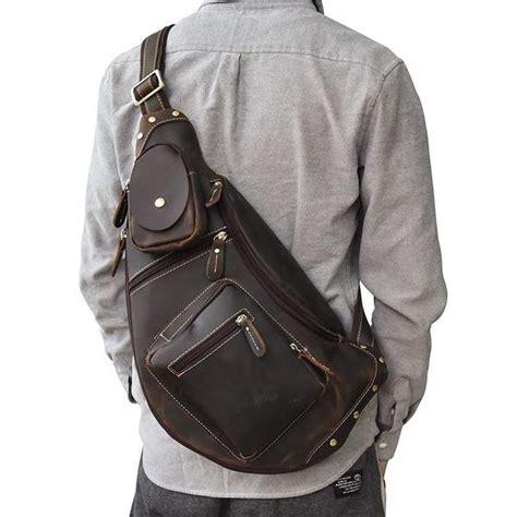 cool leather mens sling bag sling shoulder bag chest bags  men iwalletsmen