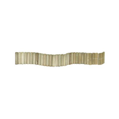 cuisine arrondi bordure à planter 1 2 rondin bois naturel h 20 x l 180 cm