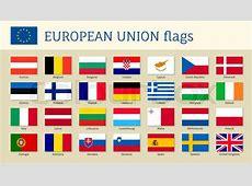 European union big set flags, twenty eight, 28 EU member