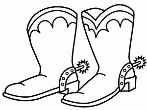 Cowboy Boot Coloring Page | Jos Gandos Coloring Pages For ...