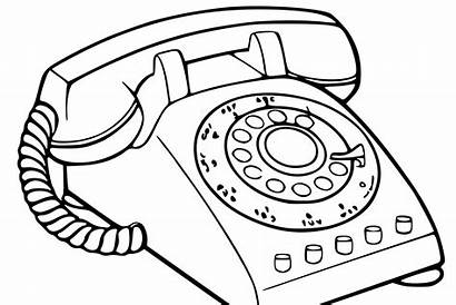 Phone Telephone Drawing Clipart Sketch Ancient Call