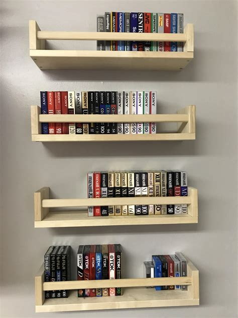 blank cassette collection  ikea spice racks