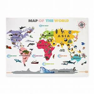 Interactive world map for kids white and bright 5 by for Kitchen colors with white cabinets with kids world map wall art