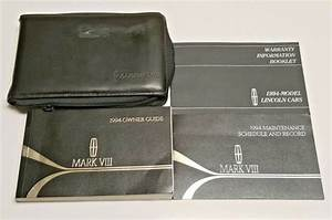 1994 Lincoln Mark Viii 8 Owners Manual Operator User Guide