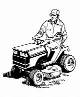 Mower Coloring Pages Farm Lawn Tractor Mowing Equipment Riding Clipart Clip Mowers Cartoon Cliparts Farmer Colouring Cartoons Machines Library Machinery sketch template