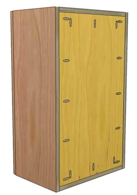 building frameless cabinets how to build frameless wall cabinets 285   EuroWallCab Step1 3BackMeasurement