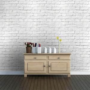 Papier Peint Pierre Blanche : mur en brique blanche meilleures images d 39 inspiration ~ Dailycaller-alerts.com Idées de Décoration