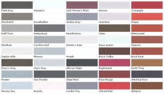 Benjamin Moore Deck Stain Colors by Pratt And Lambert Colors House Paint Color Chart Chip