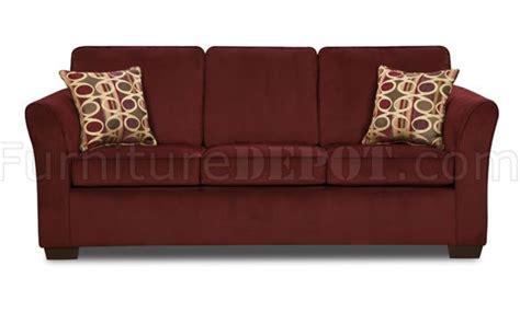 Malibu Red Wine Fabric Modern Sofa & Loveseat Set Woptions